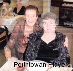 Two of the Founders of the 1968 Porthtowan Players - Heather Jasynewycz and Beryl Chapple